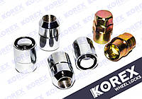 Гайки секретки 12х1.5x35 Конус (Kia, Mazda, Hyundai, Chevrolet) с вращающимся кольцом Korex