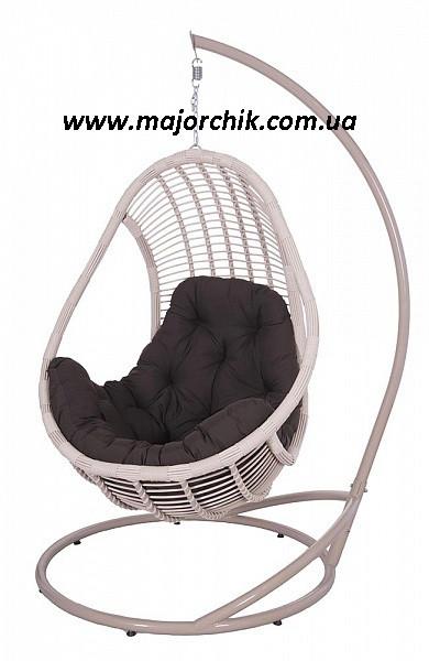 Подвесное кресло кокон из ротанга Комфорт + ПОДАРОК