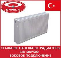 Стальные панельные радиаторы 22k 500*500 боковое подключение