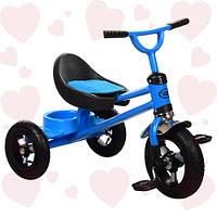 Трехколесный велосипед надувные колеса M 3198A-M-1 голубой