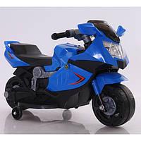 Эл-мобиль T-7215 BLUE мотоцикл 6V4AH 86*44*52 ш.к
