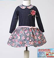 """Нарядное платье на девочку """"Роза"""", рост 80-110 cм."""