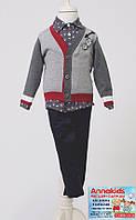Нарядный костюм-тройка на мальчика, рост 76-92 см.