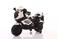 Эл-мобиль T-7212 WHITE мотоцикл 2*6V4.5AH мотор 2*15W 95*47*63