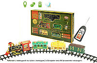 """Железная дорога 0622 (8шт)""""Золотая стрела""""на батарейках р/у, муз, свет.эффекты, поезд, 3вагона, в кор. 70*44*10см"""