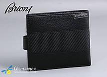 Кошелек мужской кожаный BRIONI черный, фото 2