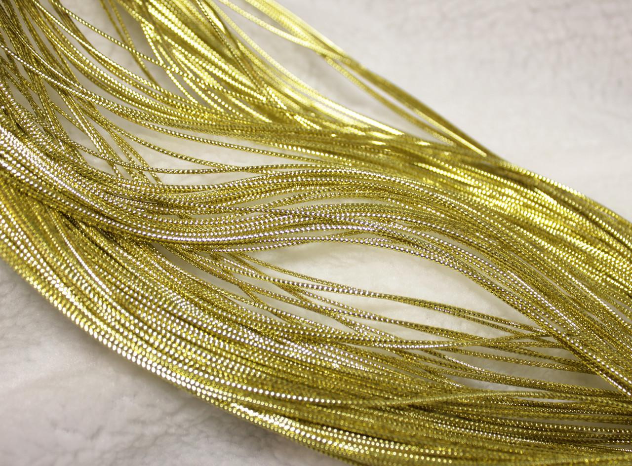 Шнур декоративный круглый люрекс золото (100м)
