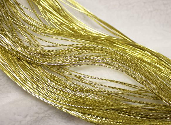 Шнур декоративный круглый люрекс золото (100м), фото 2