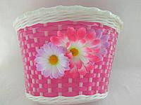 Корзинка плетеная розовая, фото 1