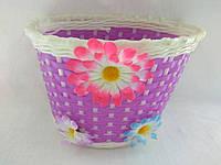 Корзинка плетеная сиреневая Цветок (сиреневая), фото 1