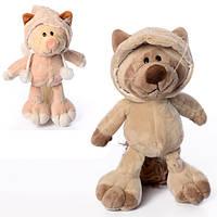 Мягкая игрушка 1489-2 (200шт) кот, 25см, 2вида