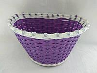 Корзинка плетеная фиолетовая, фото 1