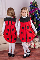Новогодний костюм для девочки божья коровка на 3-6 лет