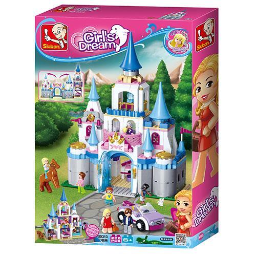 Конструктор SLUBAN M38-B0610 (6шт) Розовая мечта,замок принцессы,фигурки,815дет,в кор,38-57-9см