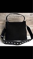Замшевая сумочка среднего размера