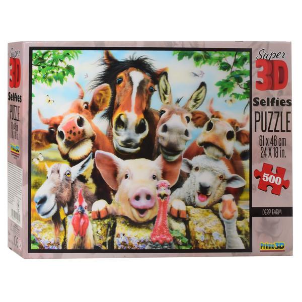Пазлы 3D 10045 (6шт) ферма(животные), 61-46см, 500дет, в кор-ке, 30,5-20-5,5см