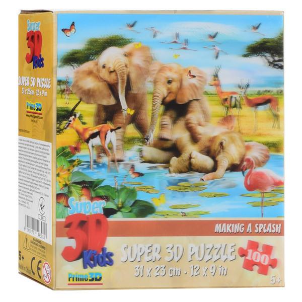 Пазлы 3D 13546 (32шт) африка(животные), 31-23см, 100дет, в кор-ке, 15-15-5см