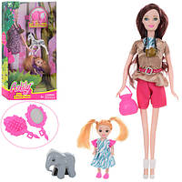 Кукла 99056 (60шт) дочка 10см, животное, сумочка, аксессуары, 2вида, в кор-ке,18-32-6см