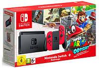 Игровая приставка Nintendo Switch Super Mario Odyssey Edition+Игра SuperMarioOdyssey(русская версия)