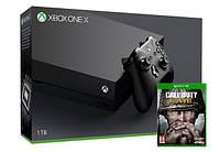 Игровая приставка Microsoft Xbox ONE X 1TB + Игра Call of Duty: WWII