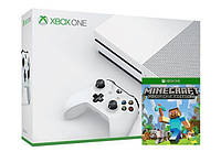 Игровая приставка Microsoft Xbox ONE S 500Gb + Игра Minecraft