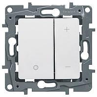 Светорегулятор нажимной 400 Вт Etika белый 672218