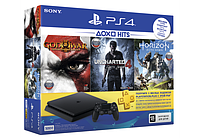 Игровая приставка Sony PS4 Slim 500Gb Black +God of War III+Horizon Zero Dawn+UNCHARTED 4 Путь вора
