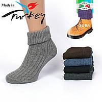 Женские ароматизированные носочки с отворотом, из овечьей шерсти Tuba BS01. В упаковке 12 пар. Турция.