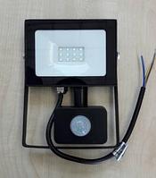 Светодиодный прожектор Lemanso 10W с датчиком движения 800Lm 6500K