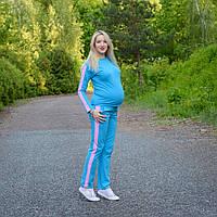 Костюм с декоративной полосой для беременных и кормящих мам HIGH HEELS MOM (голубой, размер М)