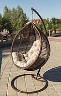 Подвесное кресло кокон из ротанга Кит + ПОДАРОК
