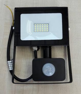 Світлодіодний прожектор Lemanso 20W з датчиком руху 1600Lm 6500K