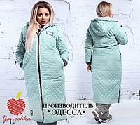 Женское стеганое пальто оверсайз с капюшоном, фото 1