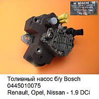 Bosch 0445010075, Топливный насос - Renault, Opel, Nissan - 1.9 DCi, б/у оригинал Европа, ТНВД