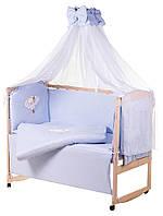 Детская постель Qvatro Gold AG-08 апликация Голубой (мишка спит на облаке)