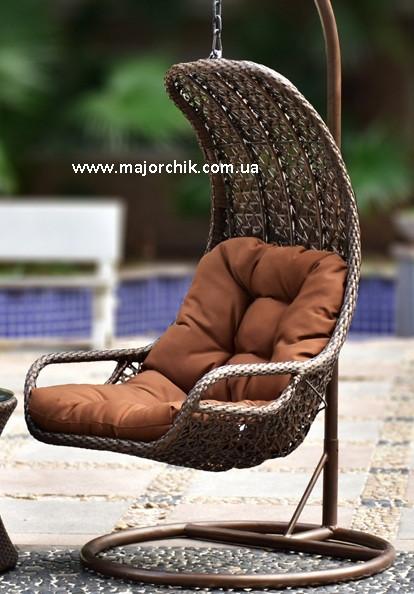 Подвесное кресло кокон из ротанга Багама + ПОДАРОК