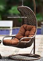 Подвесное кресло кокон из ротанга Багама + ПОДАРОК, фото 1