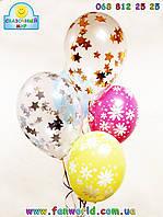 Букет из гелиевых шаров с печатью и конфети