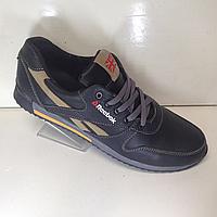 Мужские кожаные кроссовки Reebok / черные. 45 р, фото 1