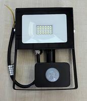 Светодиодный прожектор Lemanso 30W с датчиком движения 1800Lm 6500K