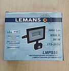 Светодиодный прожектор Lemanso 50W с датчиком движения 3000Lm 6500K, фото 2