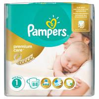 Подгузники Pampers Premium Care New Born 1 (2-5 кг) ECONOM PACK 88 шт