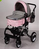 Коляска детская универсальная  EL CAMINO ME 1006-8-11 GRANDE серо-розовая ***