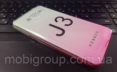 """Силиконовый чехол """"Градиент"""" для Samsung J3"""