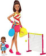 Игровой набор Барби тренер по теннису с ребенком. ОРИГИНАЛ Barbie Careers Tennis Coach Playset