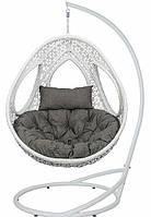 Подвесное кресло кокон из ротанга Одри + ПОДАРОК