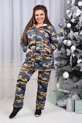 Женский теплый спортивный костюм №149-868 БАТАЛ