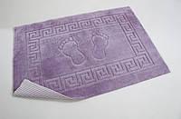 Махровый коврик для ванной прорезиненный Lotus 45*65 аметистовый