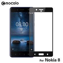 Защитное стекло Mocolo Full сover для Nokia 8 черный
