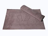 Махровый коврик для ванной прорезиненный Lotus 45*65 кофейный